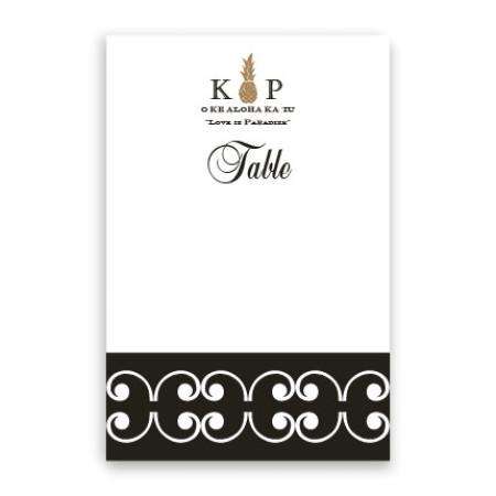 Sally Table Cards