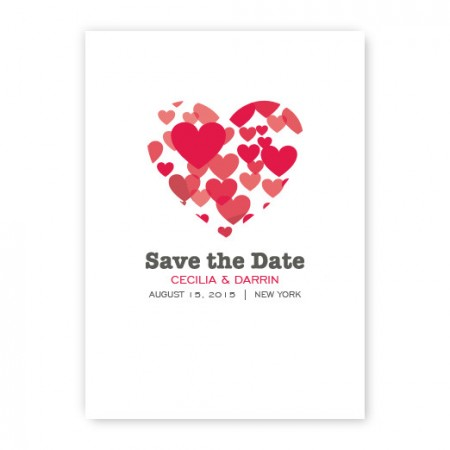 Holly Save the Date Cards