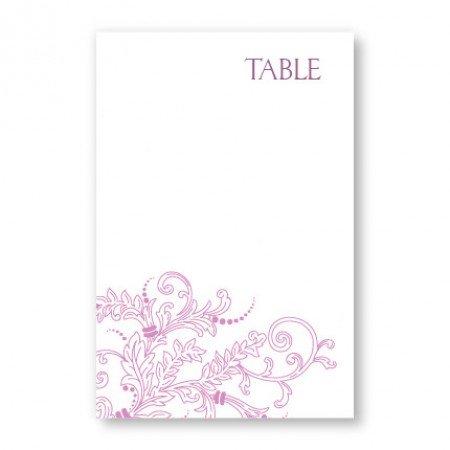 Circle Imprint II Table Cards