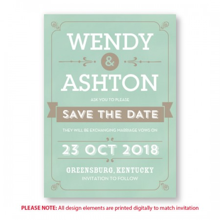 Aurora Save The Date Cards