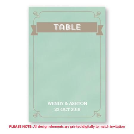 Aurora Table Cards