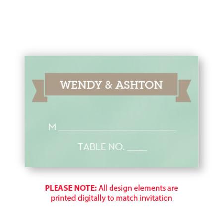 Aurora Seating Cards
