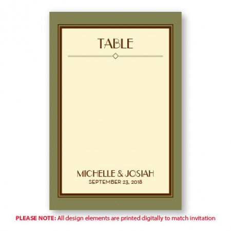 Fern Table Cards