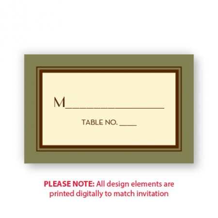 Fern Seating Cards