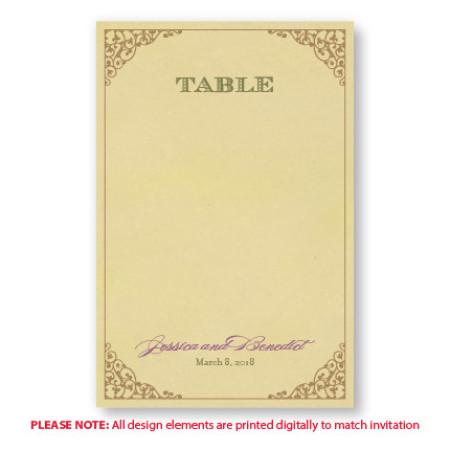 Melanie Table Cards