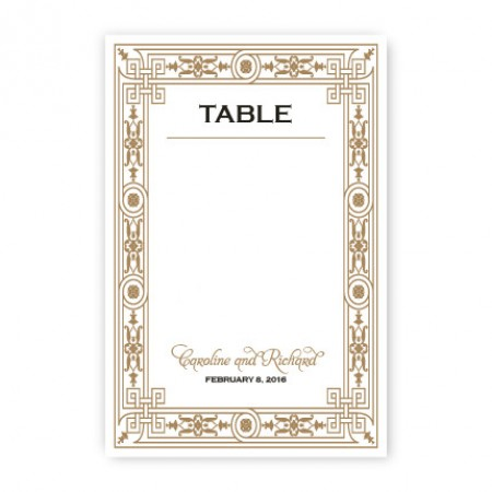 Sonja Table Cards