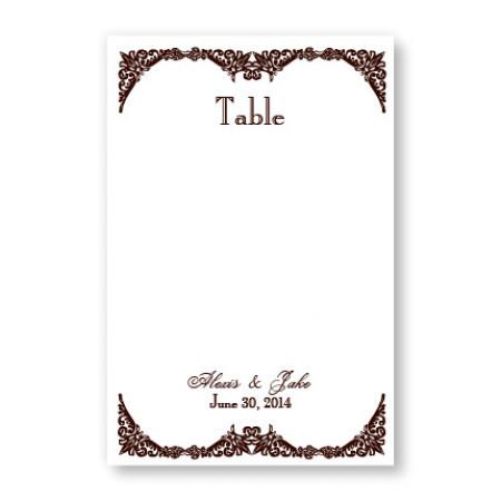 Elegantly Edged Table Cards