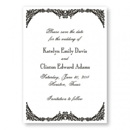 Elegantly Edged Save the Dates