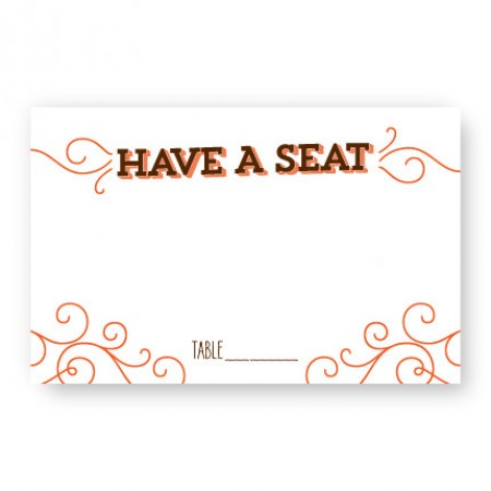 Fanfare Seating Cards