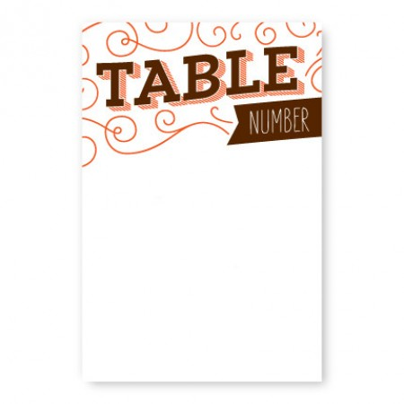 Fanfare Table Cards