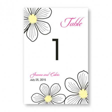 Stylish Blooms Table Cards