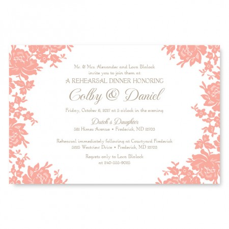 Antique Lace Rehearsal Dinner Invitations