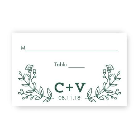 Garden Monogram Seating Cards