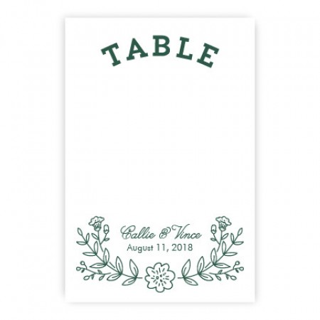 Garden Monogram Table Cards