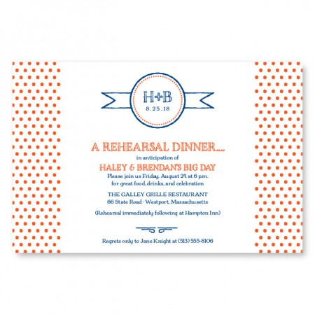Petite Dots Rehearsal Dinner Invitations
