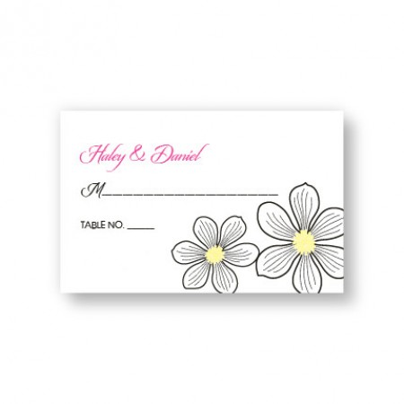 Stylish Blooms Seating Cards