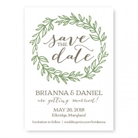 Verdant Save The Date Cards