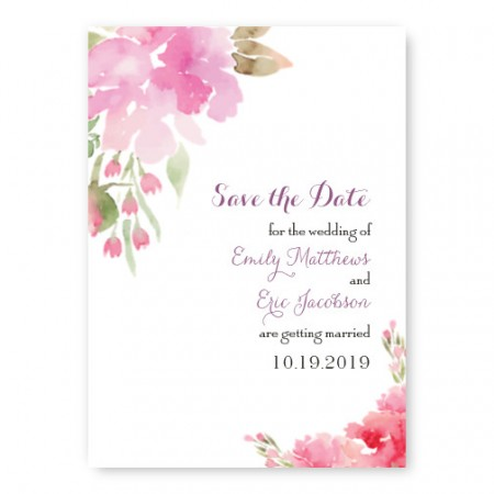 Floral Affair Save The Date Cards