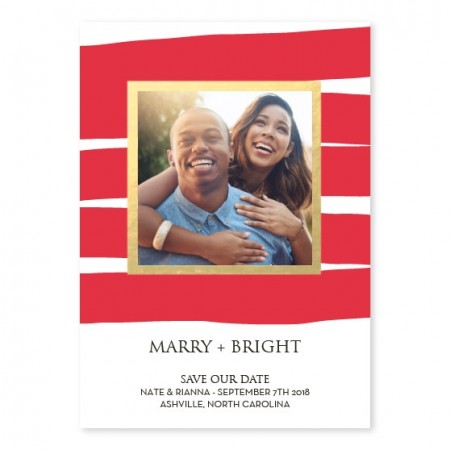 Marry Frame Foil Save The Date Cards