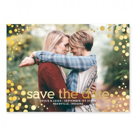 Bubbly Love Photo Save The Date Cards