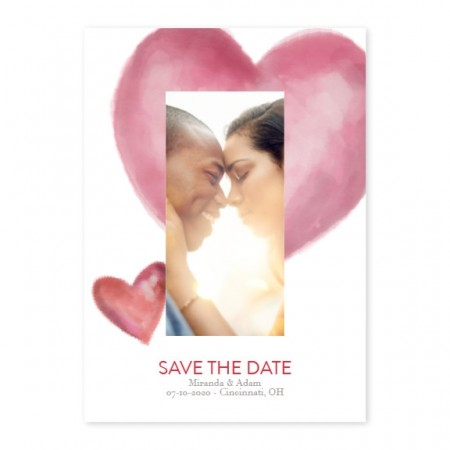 My Painted Heart Photo Save The Date Cards