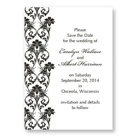 Romantic Vines Letterpress Save the Date