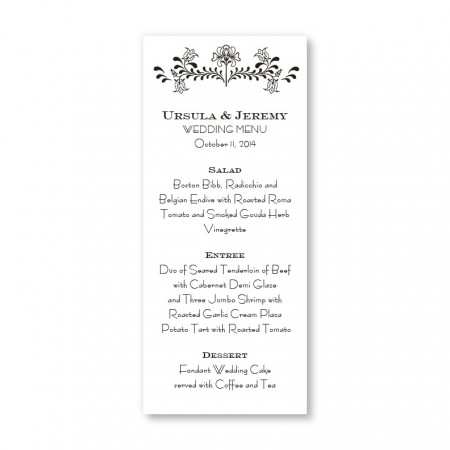 Delicate Touch Menu Cards