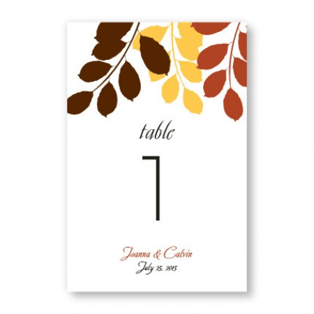 Passionate Leaves Table Cards