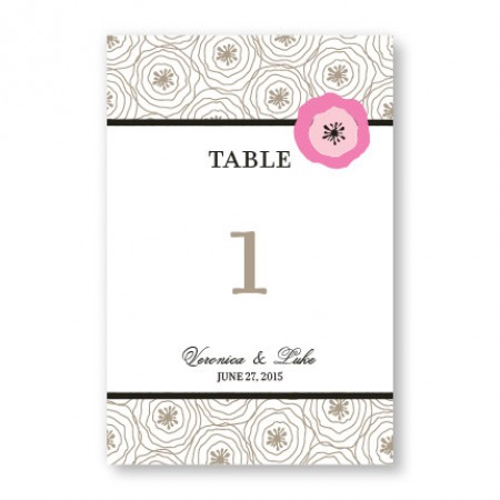 Floral Focus Table Cards