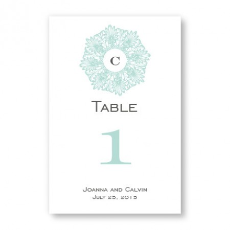 Initial Perfection Table Cards