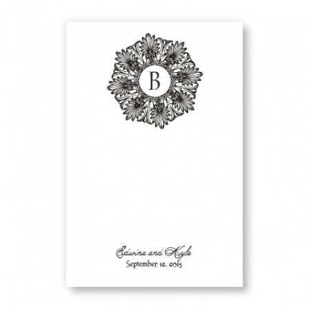 Alluring Initial Table Cards
