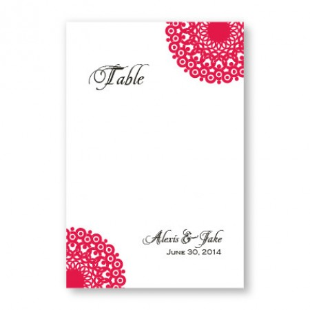 Modern Lace Table Cards