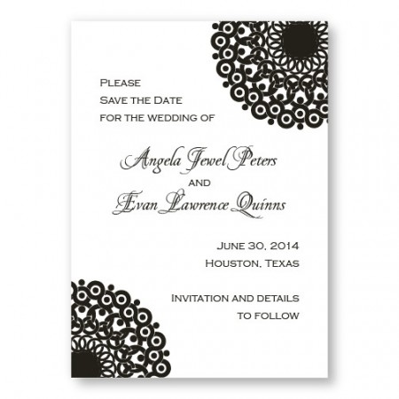 Modern Lace Save the Dates