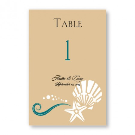 Seashell Love Table Cards