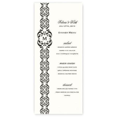 Lacey Menu Cards
