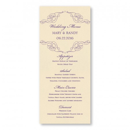 Reese Thermography Menu Cards