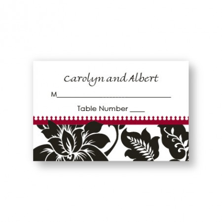 Passionate Blooms Seating Cards