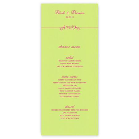 Phoebe Menu Cards