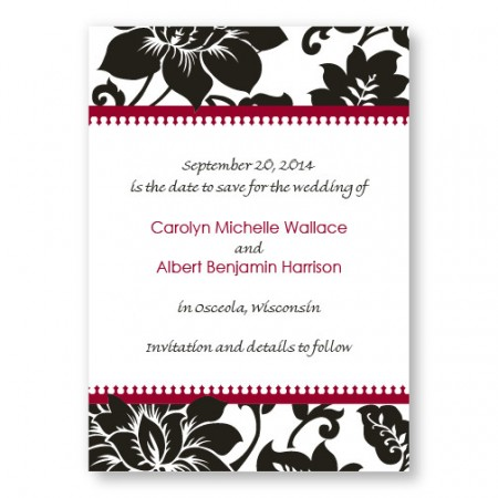 Passionate Blooms Save The Date Cards