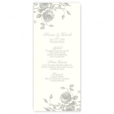 Elizabeth Menu Cards