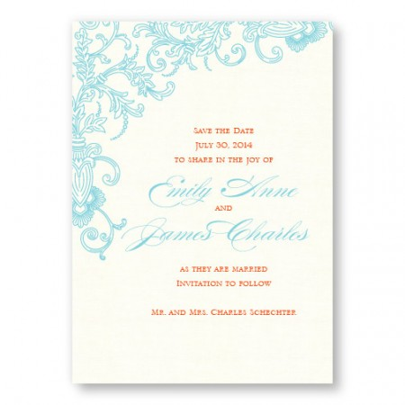 Circled With Love Thermography Save the Date Cards