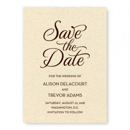 Sweet Script Save the Date Card SAMPLE