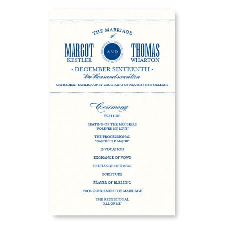 Broadway Marquee Wedding Program