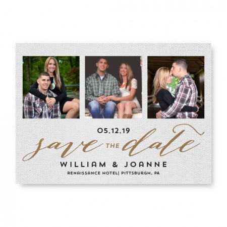 Textured Love Photo Save The Date Cards