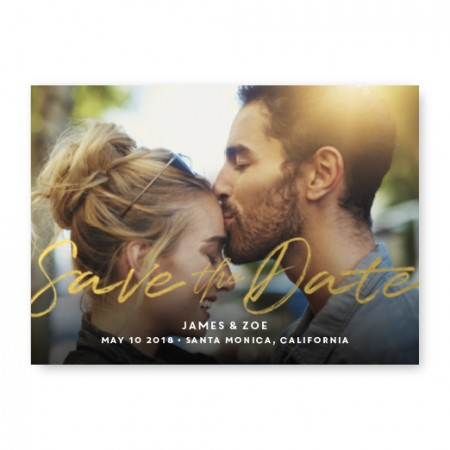Charming Foil Save The Date Cards
