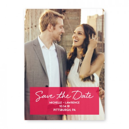 Knock Out Photo Save The Date Cards