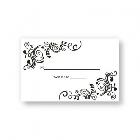 Sophistication Seating Cards