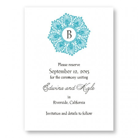 Alluring Initial Letterpress Save the Date