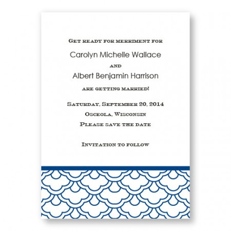 Ornamental Expression Letterpress Save the Date
