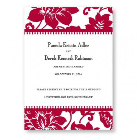 Radiant Blooms Letterpress Save the Date
